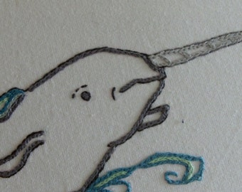 Narwhal - DIY Hand Embroidery PDF Pattern