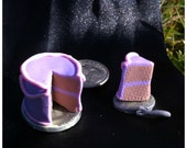 Miniature Dollhouse Girls Cake - 1:12 scale, Lavender and Pink