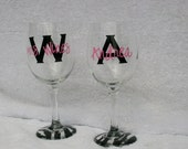 Custom Personalized Wine Glasses for Girls Night Out, Bachelorette Parties, Gifts
