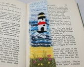 Embroidered and Felted Bookmark - Light house