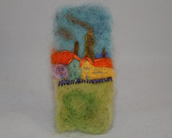 Embroidered Brooch - Industry (after Van Gogh)