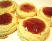 Jam Filled Butter Cookies, Strawberry Jam, Scone Cookies, Perfect for Breakfast or Dessert, One Dozen Made to Order