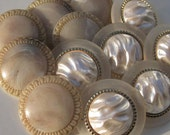 Fake Pearl and Plastic Stone Large Buttons, 30