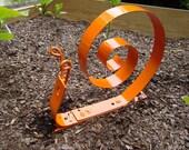 Snail Garden Sculpture - Orange