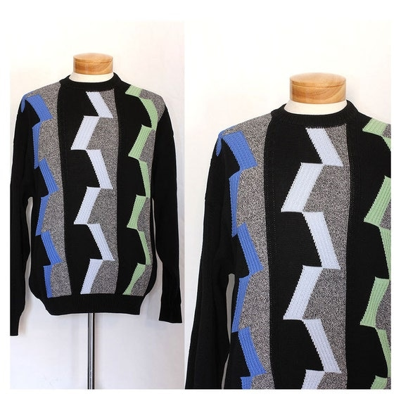 Vintage Travel the Cosmos 80s Mens Sweater