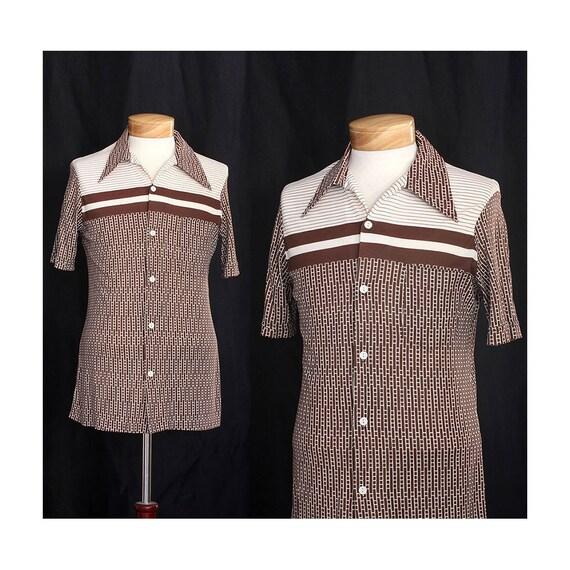 Vintage 70s Solid Foundation Mens Shirt