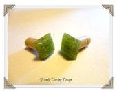 2g Lime Organic Pressed Glass Plugs