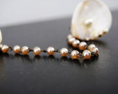 Vintage Sweater Guard Clips, Seashells and Pearls