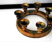 Vintage Brass Candle Holder Ring