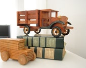 SALE, Vintage Wood Toy Truck, Nice Details, Free Shipping