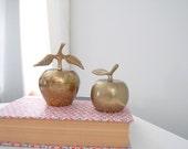 Vintage Pair of Brass Apple Bells
