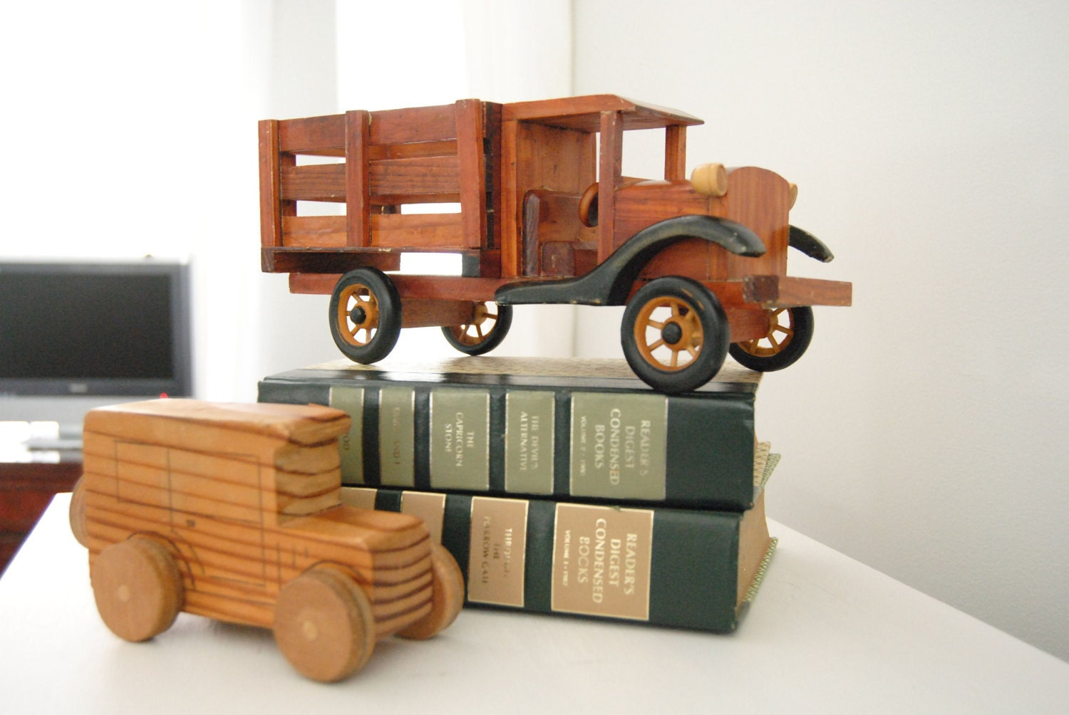Wooden Toy Trucks For 3 Year Old : Sale vintage wood toy truck nice details free shipping