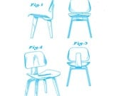 Charles Eames Molded Plywood Chair - Cyan