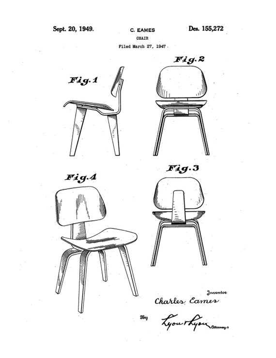 Items Similar To Charles Amp Ray Eames Molded Plywood Chair