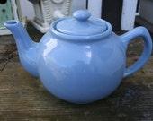 Vintage Sky Blue Teapot