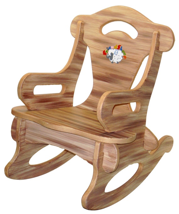 Brown Puzzle Rocker Rocking Chair Solid Wood for by ...