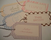 RESERVE FOR SARAH Variety of Gift Tags - Set of 5