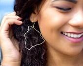 Big Island Earrings 14K Gold filled Hawaii Earrings large