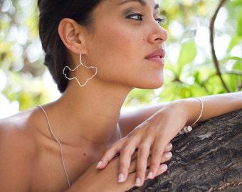 Maui Earrings Sterling Silver Island Hawaii