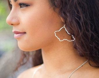 Oahu Earrings Sterling Silver Island Hawaii