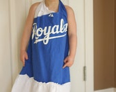 Upcycled T-Shirt Dress - Royals - Toddler