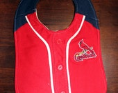 Upcycled Bib from Cardinals Jersey