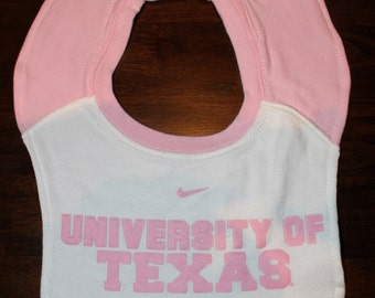 Upcycled Pullover Toddler Bib From University of Texas T-Shirt