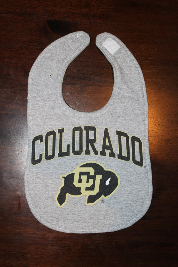 Upcycled Bib from Colorado State Tshirt