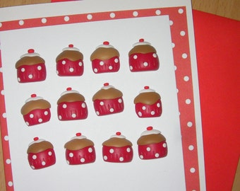 Cup Cake embellishments for card making (pack of 12)