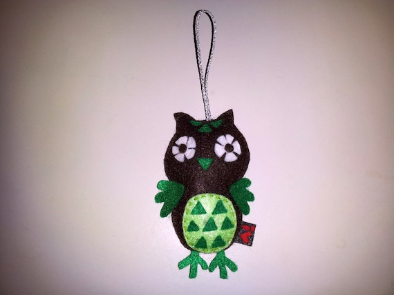 Felt Baby Owl Ornament, Christmas Decoration, MADE TO ORDER