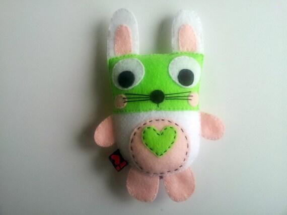 Bunny Rabbit Plush Eco Felt Stuffed Decor Gift