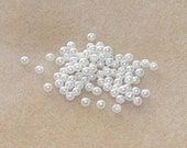 500 pcs 4mm White pearl beads