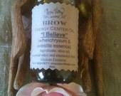 "Energy Center Oil - Brow - ""I Believe"" (w/Helichrysum & Celestite essence) in 2oz glass bottle"
