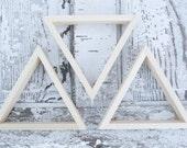 Set of THREE 8 inch Decorative Triangle Wall Shelves