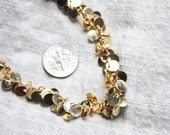 1ft - Tiny gold disc charms / chain