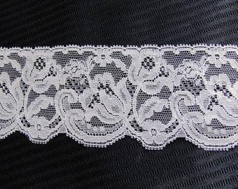 Vintage Wide Beige Floral Lingerie Lace  - 2.5 Inches Wide - 4 Yard total #33D