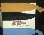 5 soft elastic hair ties