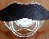Avent brand size 0-6 months mustache pacifier photo prop