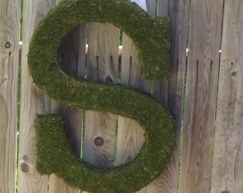 Moss Covered Letter 24 Inch Wedding