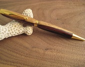 Ball point Pen, Cocobolo wood, Gold plated. FREE SHIPPING