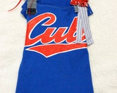 Lets Go Cubbies Upcycled T-Shirt Dress - 18mos/2T
