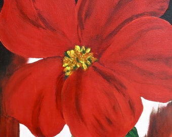 PERFECTLY RED - original painting