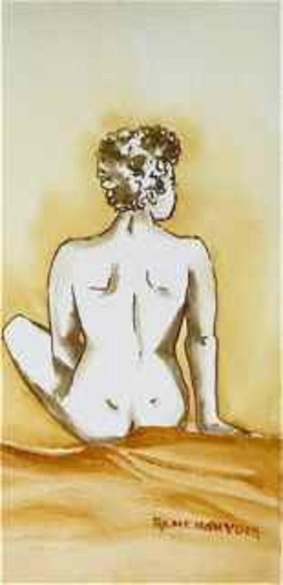 Golden Girl -- An original mixed media painting