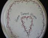 Cottage Chic Shabby Home Sweet Home Toilet Seat