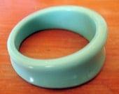 Mint resin curve bangle