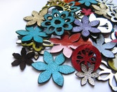 Mixed colors and forms/ Leather Supplies/ Jewelry Supplies / Crafts/ Embellishments/ Laser cut/ 30 Pieces