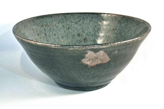 RESERVED for Jeff: Korean Blue Celadon Bowl w/ Platinum Lustred Rim