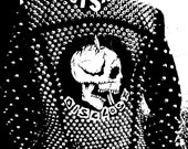 FULLY STUDDED D-Beat Punk as Fuck Black Denim Jacket Gism Disclose Confuse Anti Cimex