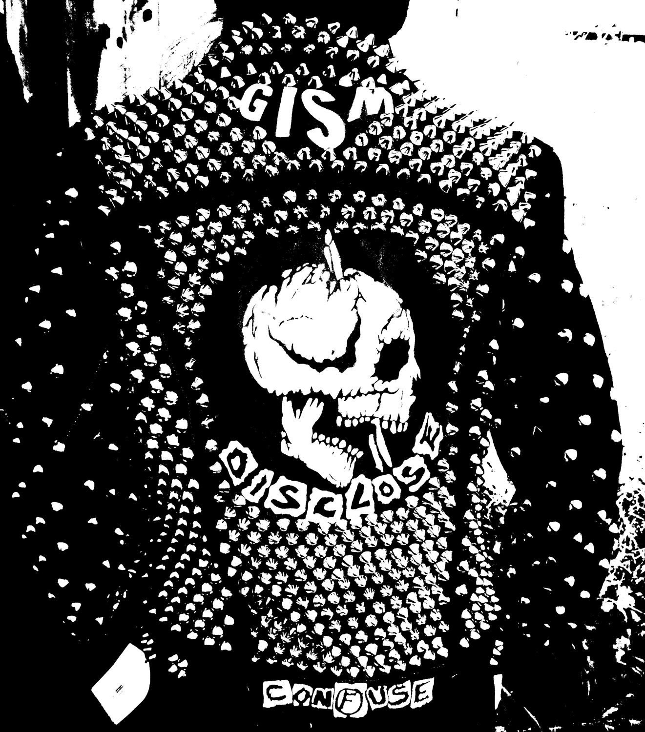 Fully Studded D Beat Punk As Fuck Black Denim Jacket Gism