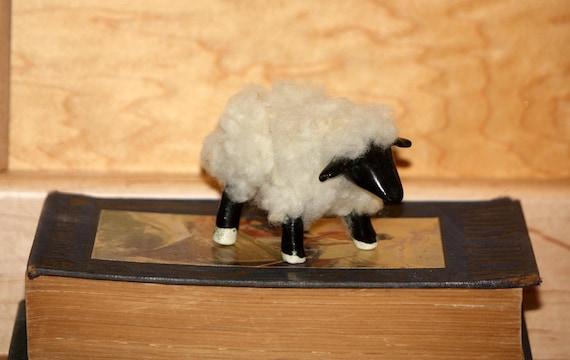 Little Black Sheep -Hand Made - Sheep Sculpture-Wool